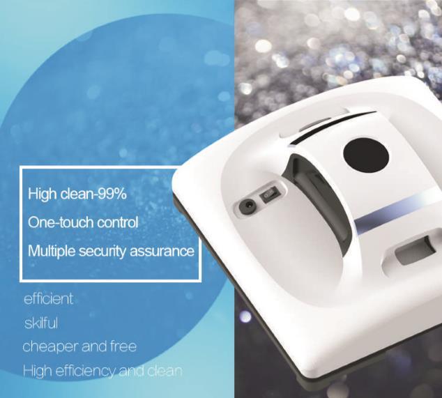 Magnétique à l'intérieur en plein air haute fenêtre de haut de nettoyage robot X6 nettoyeur Automatique robot aspirateur nettoyant pour vitres