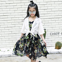 Retail 120 160CM 2018 Summer V Neck Girl Dress Fashion Baby Girls Dresses Honey Baby Girls
