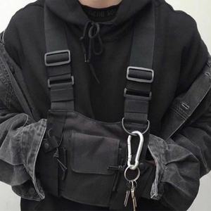 Image 4 - Tactical Vest Nylon military Vest chest rig Pack Pouch Holster Tactical Harness walkie talkie radio Waist Pack for Two Way Radio