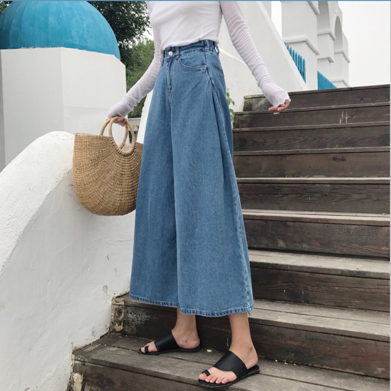 Women Jeans Pants Fashion Retro Loose High Waist Wide Leg Pants Women Denim Wide Leg Jeans Ladies Jeans Trousers Vaqueros Mujer 3