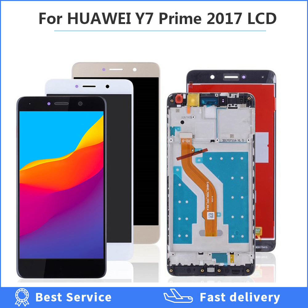 For HUAWEI Y7 Prime LCD Display Touch Screen Digitizer For Huawei Y7 Prime 2017 LCD With Frame TRT L21 L21A L21X LX2 LX1 LX3