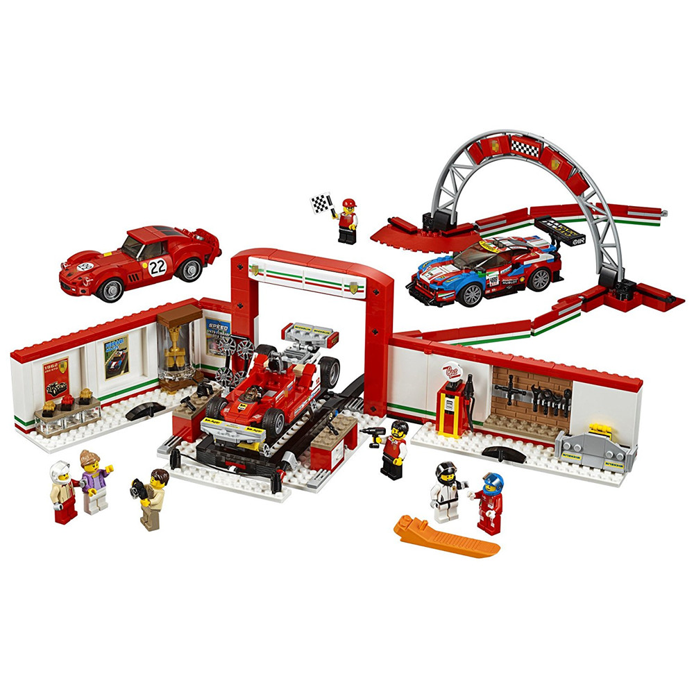 LEPIN City SPEED CHAMPIONS Ultimate Garage Building Blocks kits Bricks Sets Classic Model Kids Toys Gift Compatible Legoe