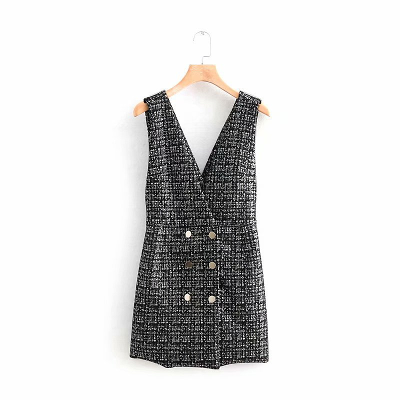 Women's Clothing Special Section New Arrival Old Bird 55-8692 European And American Fashionable Suede Texture Vest Dress0224 Demand Exceeding Supply
