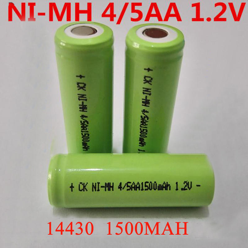 Soravess 6-10PCS 4/5AA Rechargeable Battery 1.2V 1500mAh 14430 4/5 AA Ni-Mh Batteries For DIY Electric Shaver Medical Instrument