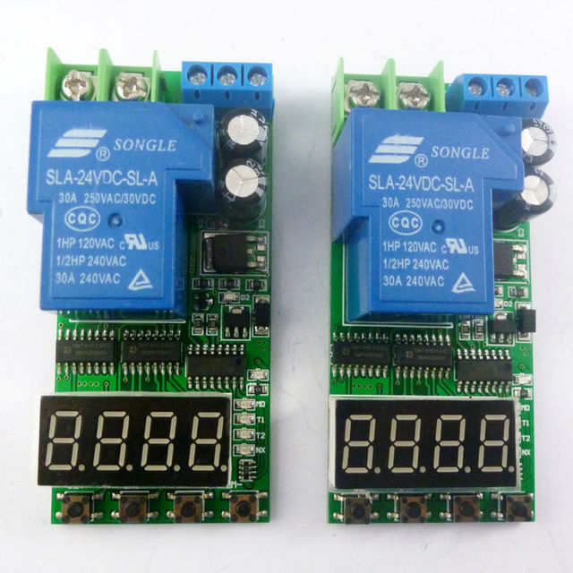 2PCS IO23C01 DC 12V 30A High Power Delay Relay Board ON/OFF Self ...