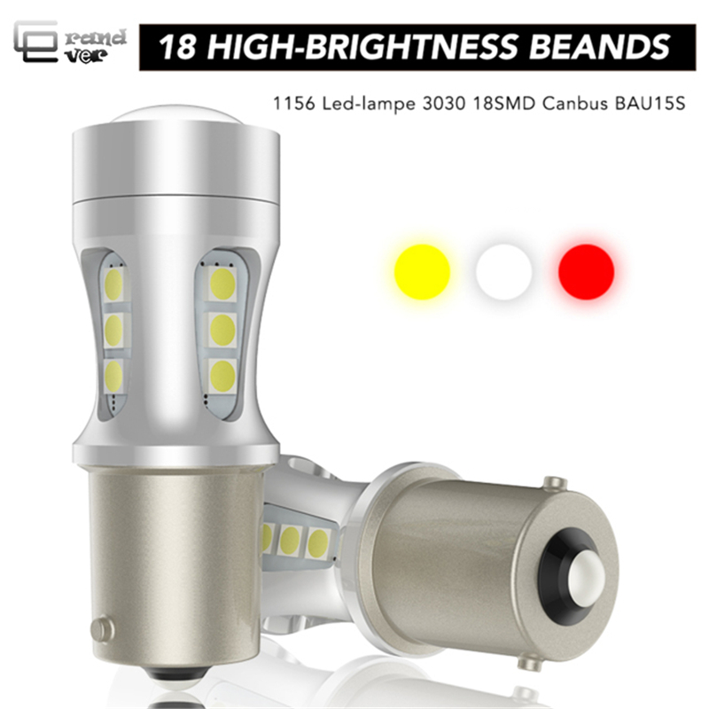 1PCS 1156 BAU15S PY21W BA15S <font><b>P21W</b></font> LED Lamp T20 7440 W21W 7443 W21/5W T15 For Car Turn Signal Lights White Amber <font><b>Red</b></font> Lighting 12V image