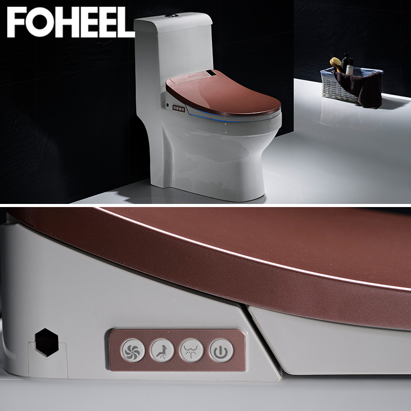 FOHEEL high quality smart toilet seat cover electronic bidet clean dry seat heating wc intelligent led light toilet seat cover