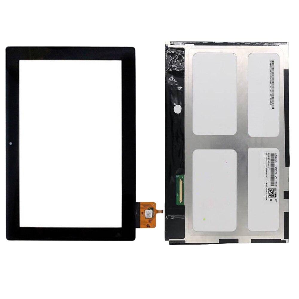 For Lenovo IdeaTab S6000 S6000-H Black Touch Screen Sensor Digitizer Sensor Panel Glass + LCD Display Screen Panel Monitor