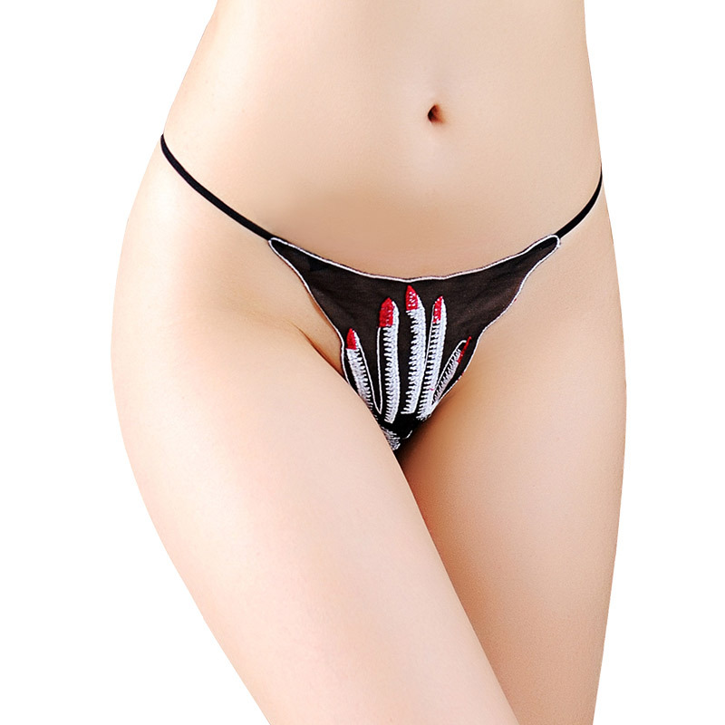 Women Stringi Underwear Sexy G String Women's Pantie Transparent Mesh Briefs Funny Hand Disguises Panties Lingerie Female Thongs