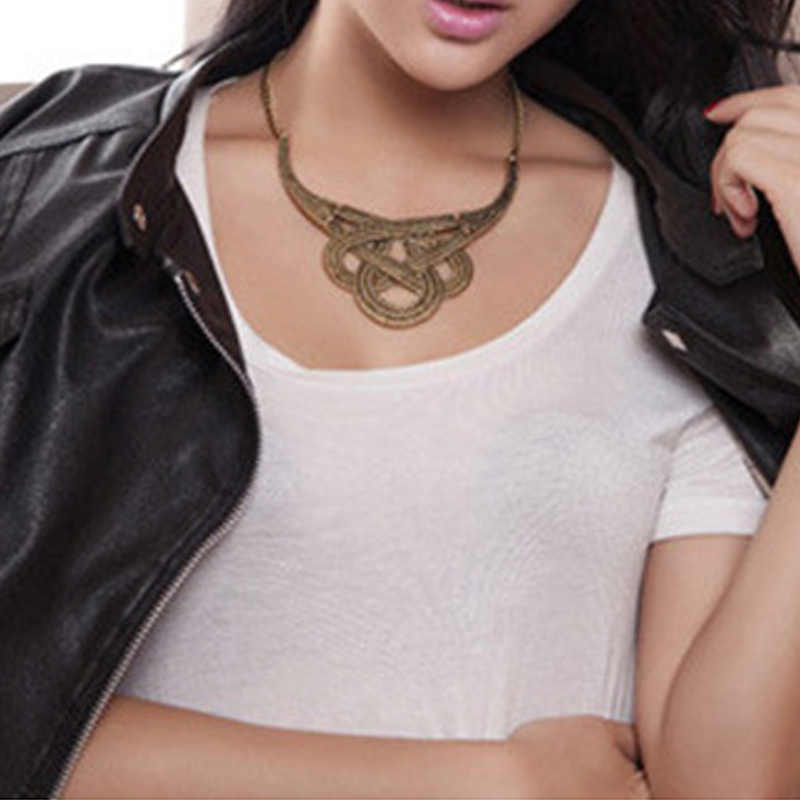 Retro Fashion Jewelry Necklace Accessories Geometry Cutout U-shaped Necklace Clavicle Chain For Women