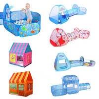 Indoor ao ar livre jogar tenda bebê bola piscina portátil crianças tenda brinquedo conjunto dobrável casa de jogo do bebê castelo brinquedos para crianças presentes natal