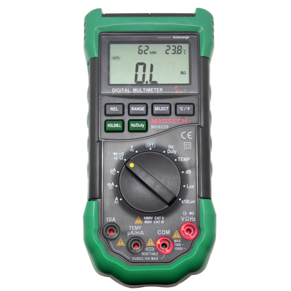 MASTECH MS8229 5 in 1 3999 Multimeter tester Lux Humidity Sound Meter backlight мультиметр mastech 8229