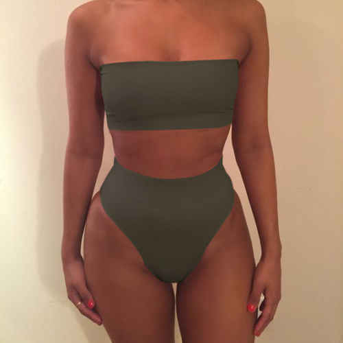 נשים Push-Up חזייה מרופד תחבושת בגד ים סט קיץ גבירותיי צמרות + תחתונים 2 יחידות תלבושות