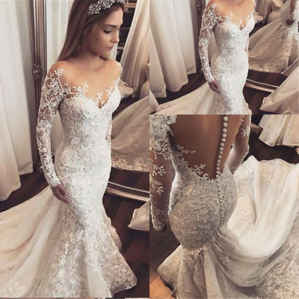 Princess Lace Mermaid Wedding Gowns
