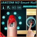 Jakcom N2 Smart Nail New Product of Accessories As for xiaomi mi band 2 strap for samsung gear fit for garmin ex