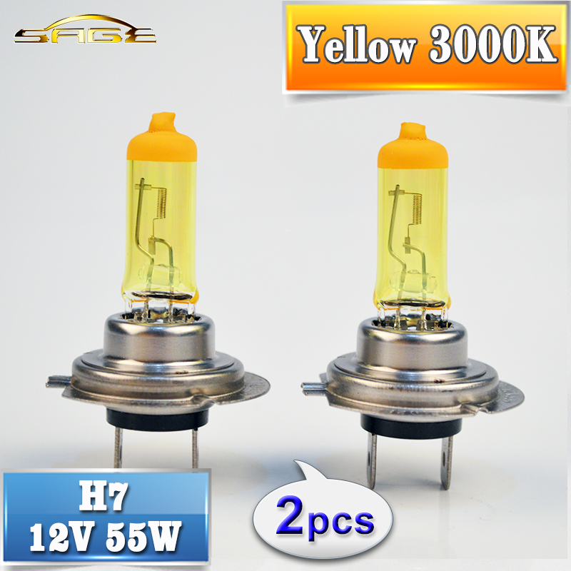 flytop 2 PCS(1 Pair) Yellow H7 Halogen Bulb 12V 55W 3000K Quartz Glass Xenon Car HeadLight Auto Lamp hdmi vga 2av lcd driver board vs ty2662 v1 for 71280 800 n070icg l21 ips lcd