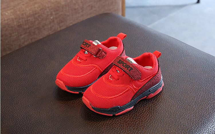 Unisex Children Casual Shoe Boys Girls Mesh Breathable Sport Shoes Black White Red Pink Kids Student School Skate Shoes #010