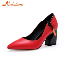 KARINLUNA 2019 fashion new genuine leather INS hot shoes wom