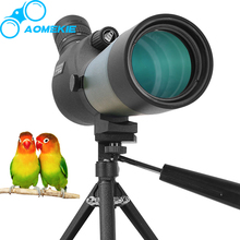 AOMEKIE 20-60x60 Zoom Spotting Scope Bak4 Prism Optical Lens Waterproof Monocular Telescope with Tripod for Birdwatching Hunting