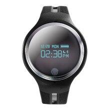 Белый/черный дизайн моды bluetooth Коврики Смарт часы наручные Водонепроницаемый 0.96 «oled для iOS и Android телефон