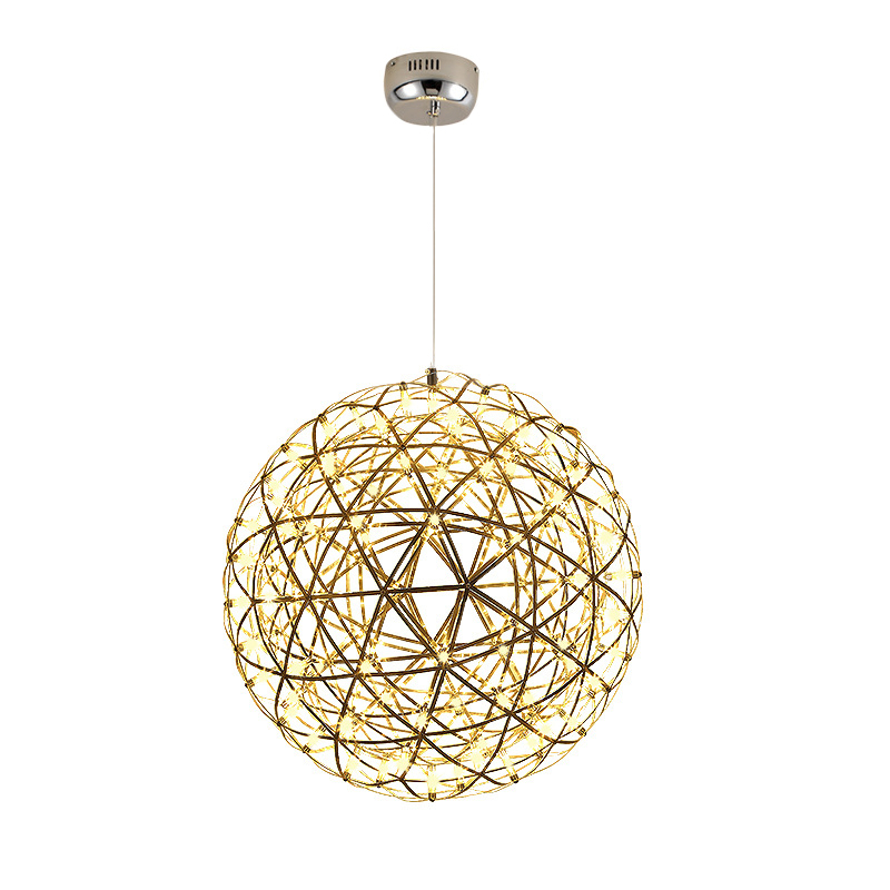 Staircase Pendant Light creative Nordic lighting fireworks starry sky ball light engineering restaurant spark ball Pendant
