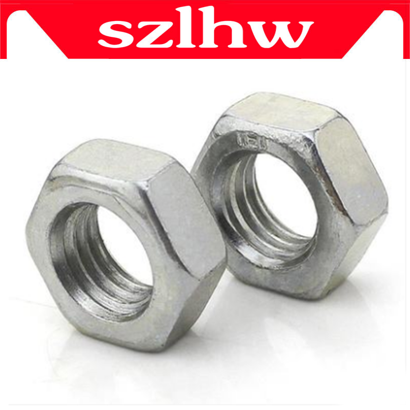 M8 M8*1 M8x1 M10 M10*1.25 M12 M12*1.5 M12x1.5 DIN934 304 Stainless Steel 304ss Thin Fine Pitch Thread Hexagon Hex Nut 7pcs m8 30mm m8 30mm 304 stainless steel ss din933 full thread hex hexagon head screw