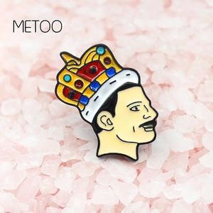 Эмалированная брошь METOO, эмалированная брошь Фредди, королева Меркьюри, певица, музыкальное искусство, мягкий штырь, значок, Ювелирное Украш...