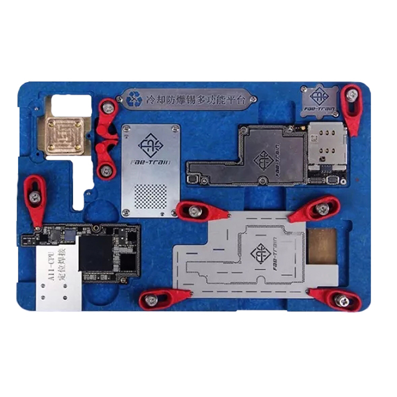 цена на Eplosion-proof Cooling Tin Multi-functional Platform For iPhone X Motherboard Fixture A11 Circuit Board PCB Holder Jig Tool