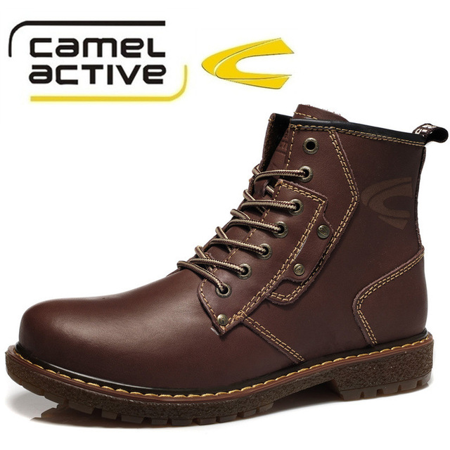 Free Shipping Certified Goods German Camel Active Trend Martin Boots Top  Layer Cowhide Genuine Leather Men