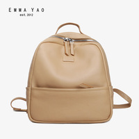 EMMA YAO Women Leahter Backpack Fashion Summer Bag Brand Korean Travel Bag