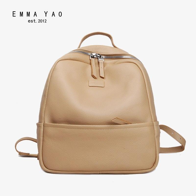 EMMA YAO femmes sac à dos en cuir de mode d'été sac marque coréenne femmes sac à dos