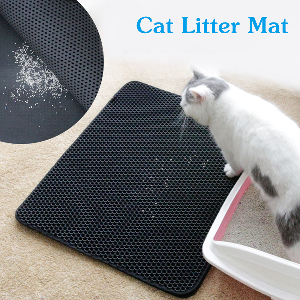 Cat Litter Mat Waterproof Double-Layer Cat Litter  Mats EVA Non-slip Clean Pad Products Home Pet Accessories