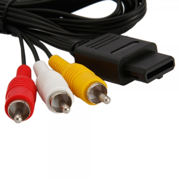 BUKIM 1.8M Audio TV Video Cord AV Cable to RCA for Super Nintendo GameCube N64 SNES