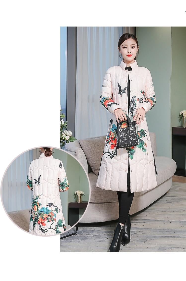 Impression Manteau Color 676 Coton Qualité Veste De D'hiver Femmes Pour Photo Fit Vêtements Chaud Grande Haute Dames Femme 2019 Taille wARXdqd