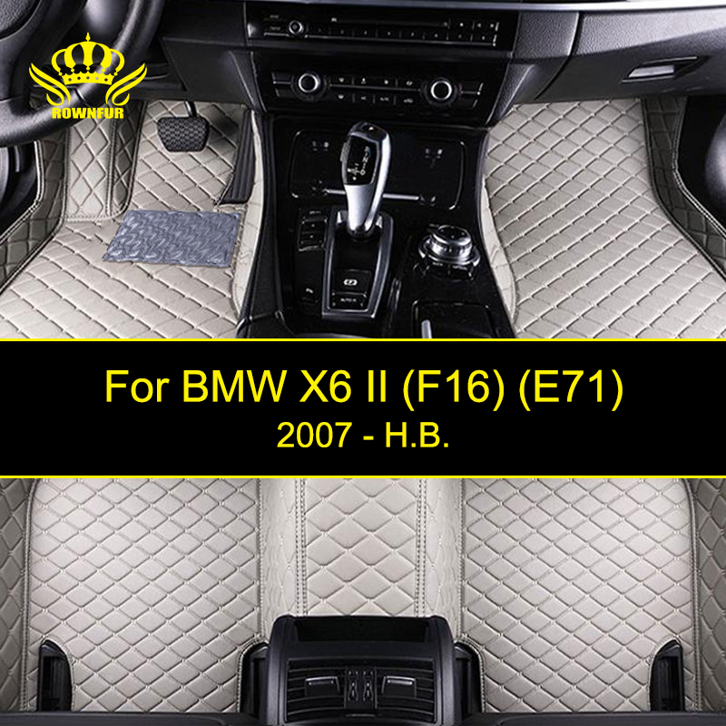 3D Car Floor Mats For BMW X6 (F16 E71) Artificial Leather Car Mats Custom Fit Most Cars Waterproof Interior Carpet Mats interior leather custom car styling auto floor mats