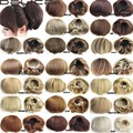 Womens Synthetic Straight Clip in  Hepburn's Hair Bun Hairpieces Synthetic Bride Buns Hair Extensions Q9-2