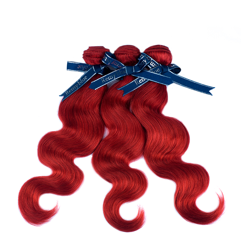 Remy Blue Red Hair Bundles Burgundy Brazilian Body Wave Bundles Deals 10-26 inch Human Hair Weave Extension Remy Hair No Tangle (27)