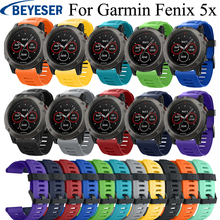 Strap watchband For Garmin Fenix 5X Fenix5X Plus Band Silicone wristband for Garmin Fenix 3 Fenix 3HR Bracelet smart Watch strap strap stainless steel for garmin fenix 5x fenix 3hr fenix 3 2 1 smart watches band silicone watch wrist band 12 14