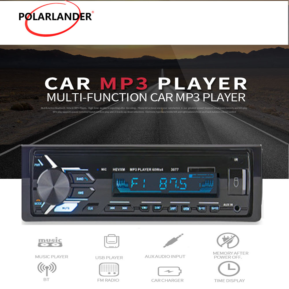 <font><b>SD</b></font> USB <font><b>MP3</b></font> MMC WMA 12V FM Aux Input Receiver <font><b>Car</b></font> Stereo In-dash <font><b>Car</b></font> audio <font><b>Player</b></font> <font><b>Autoradio</b></font> <font><b>Car</b></font> <font><b>Radio</b></font> <font><b>1</b></font> <font><b>Din</b></font> <font><b>Bluetooth</b></font> 3077 image