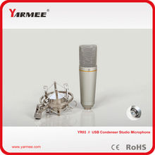 3PCS/Lot  !!! Top Quality Professional  Wired USB Handheld Microphone + Shock Mount For Recording Studio Equipment