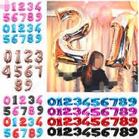 Große Anzahl Ballon 40 Inch Große Anzahl Folien Ballons Rosa Blau Helium Ballon Geburtstag Hochzeit Dekoration Bälle Partei Liefert