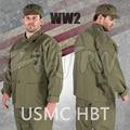 WWII ee.uu. USMC verde HBT chaqueta del uniforme camisa y pantalones ee.uu./501104