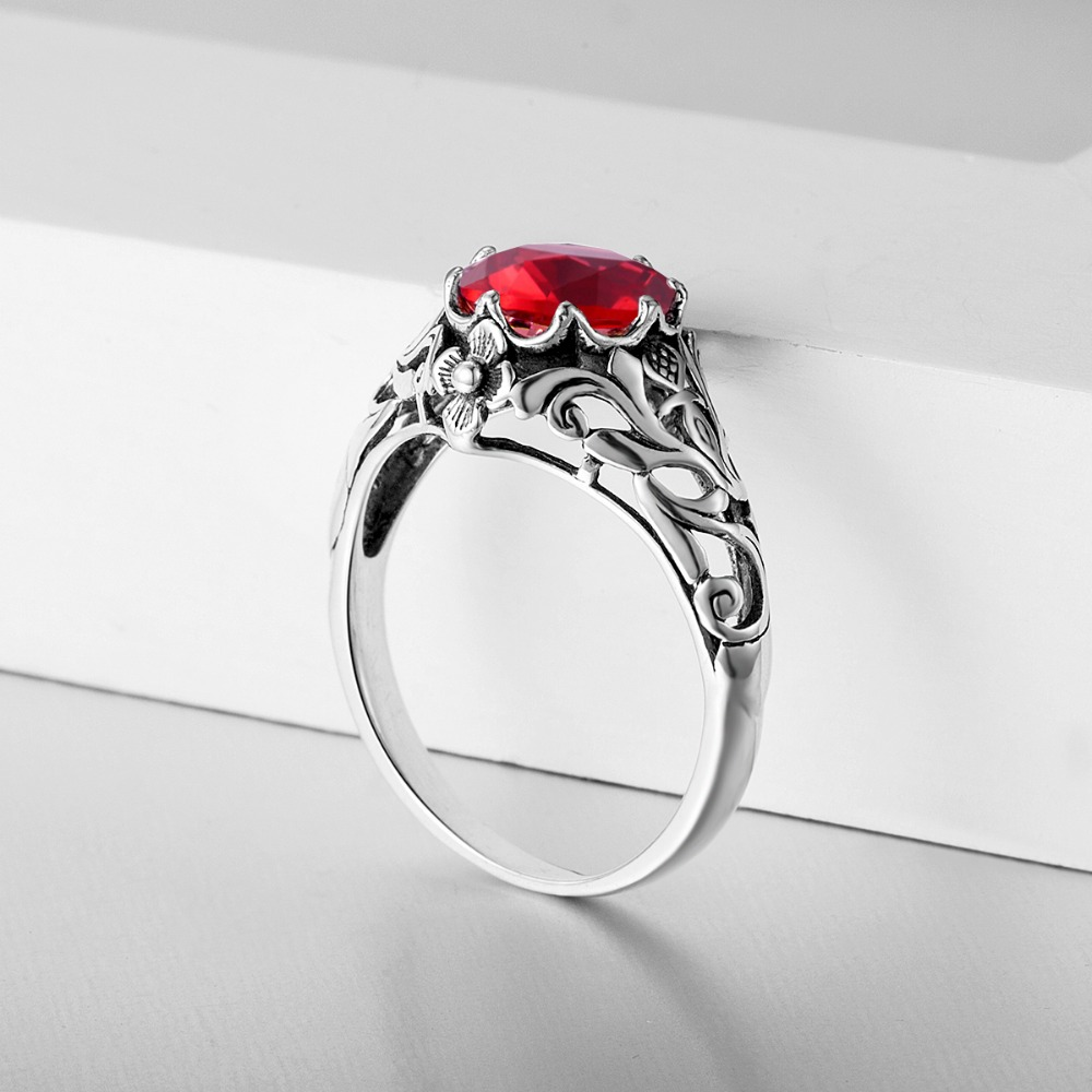 for brand women natural jewelry engagement ring product silver red fine new jewelrypalace rings products sterling garnet image stone