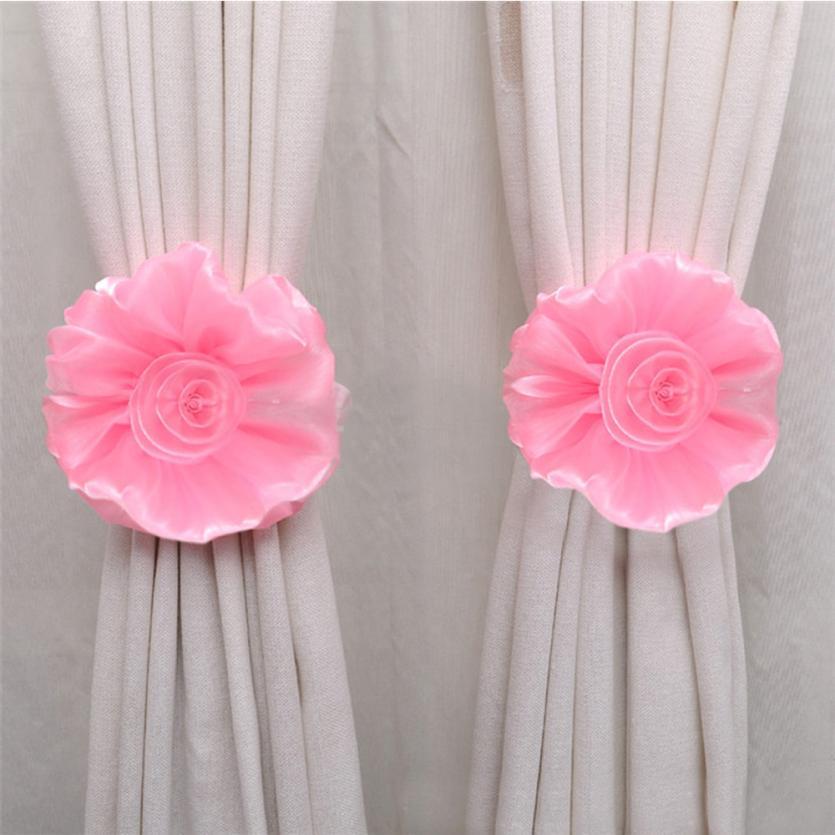 Home Decor Curtain Tie Clip On Flower Tie Backs