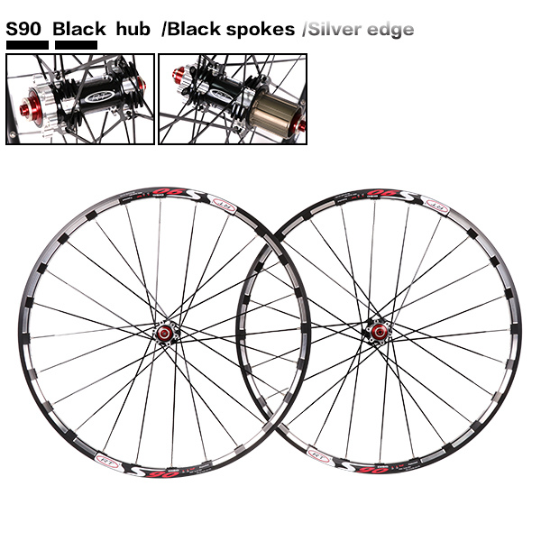 2017 newest mountain bike bicycle Milling trilateral RT front 2 rear 5 bearing japan hub super smooth wheel wheelset Rim 2016 rc3 26inch mountain bike bicycle front 2 rear 5 bearing japan hub super smooth flat spokes wheel wheelset 27 5inch rim