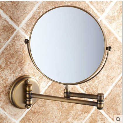 Makeup Mirror 8 Inches Wall Mounted Extending Folding bathroom mirror double side 3XCosmetic Mirror for Beauty Making Up Shaving new fashion 6 inches led bathroom mirror dual arm extend 2 face metal makeup mirror 5x magnifying wall mounted extending folding