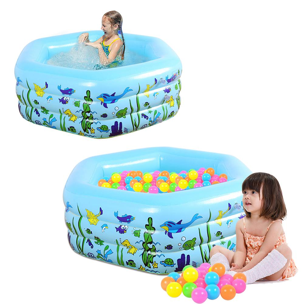 1.33M Three-ring Baby Inflatable Printing Swimming Pool Environmentally friendly PVC Playing Bathing Pool for Family Children(China)