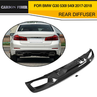 Car Styling Carbon Fiber Auto Rear Diffuser Lip Spoiler For BMW 5 Series G30 Standard Sedan 4 Door 530i 540i 2017 2018