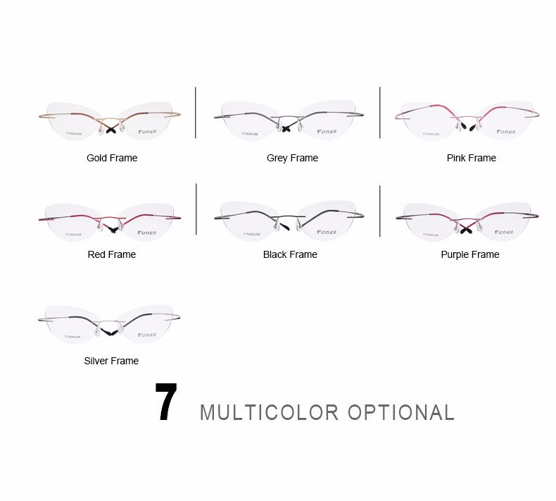 rimless women cat eye glasses silhouette fashion eyewear eyeglasses (2)