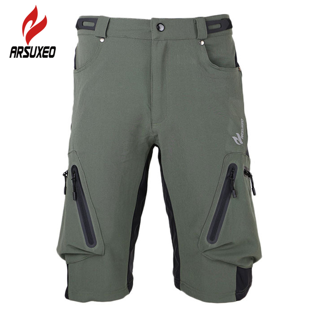 ARSUXEO Men s Downhill MTB BMX Shorts Breathable Quick Dry Clothing  Mountain Bike Bicycle Shorts Outdoor Sports Cycling Shorts 4c23d1ce8